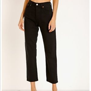 Levi's Wedgie Straight Leg Jeans Black